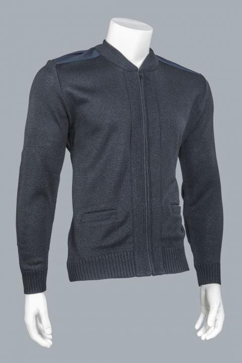 Zipper-Front Commando Crew Neck, Model 4012
