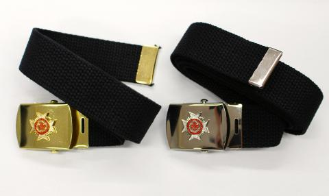 Belts, Maltese cross buckles