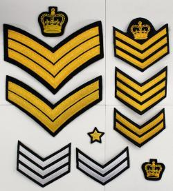 cloth chevrons and crowns