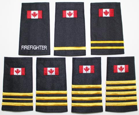 Fire Epaulettes with Flag