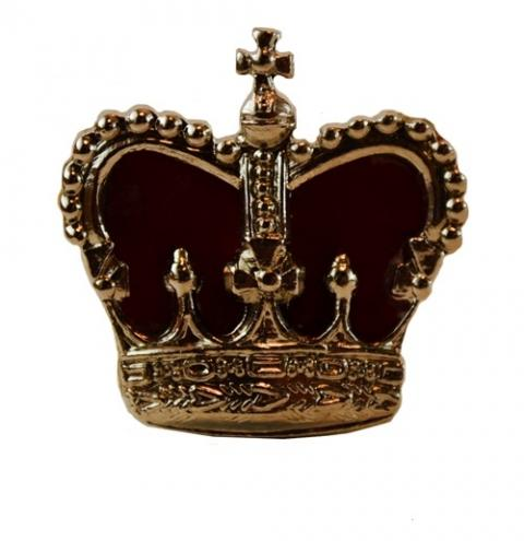 Gold crown with red velvet
