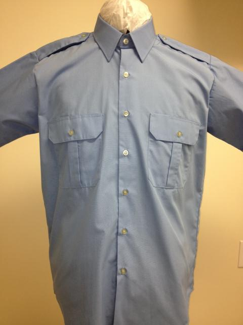 Basic Uniform Shirt, Light Blue