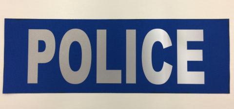 Police patch, Blue